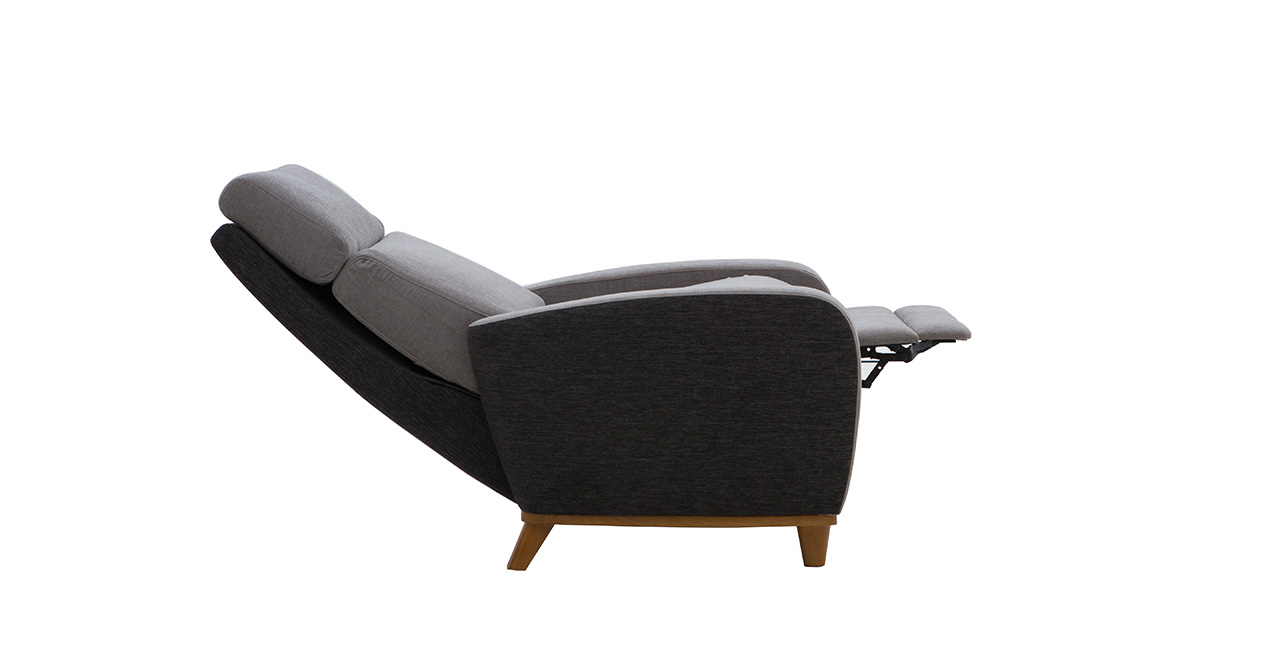 float - fabric recliner sofa furlenco