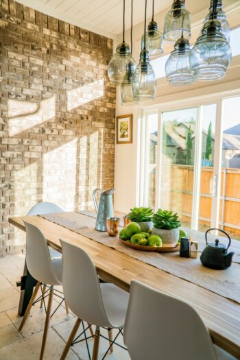 Breakfast Nook- Brick Walls